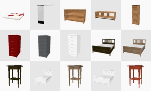 180 ikea models for sweet home 3d 3deshop by scopia. Black Bedroom Furniture Sets. Home Design Ideas