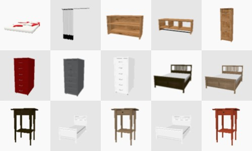 180 IKEA models for Sweet Home 3d | 3deshop by Scopia