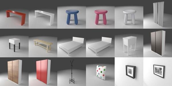 ikea models for blender 3deshop by scopia